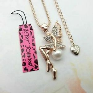 NEW!! Betsey Johnson long angel sweater chain